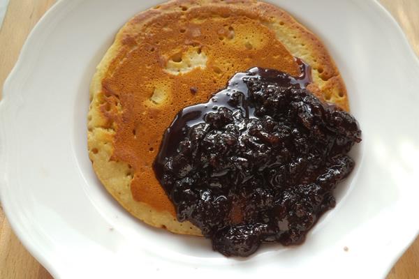 pancake veg con marmellata