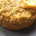Timballo di grano saraceno con crema di carote