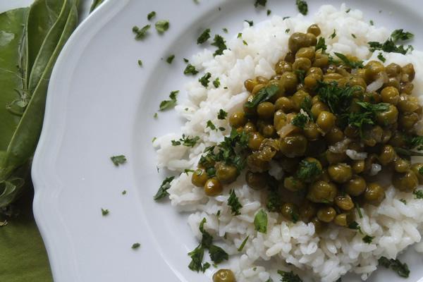 ricetta riso pilaf con piselli
