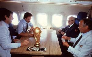 Italia mondiale 1982 con Zoff, Gentile, Pertini e Bearzot