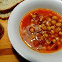 Zuppa di ceci e rosmarino