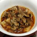 Zuppa di funghi croccante