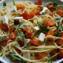 Spaghetti con zucca e formaggio blu