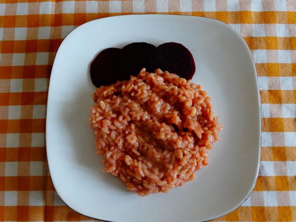 ricetta risotto con rape rosse