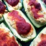 zucchine al forno con ripieno di tofu