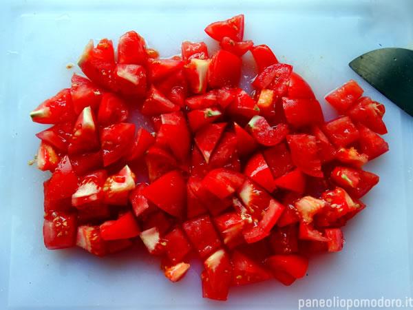 caprese di melanzane e pomodoro