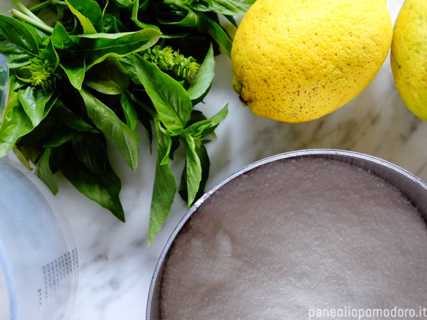 ingredienti ricetta-sorbetto-limone-basilico
