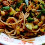 ricetta spaghetti con ragù di seitan