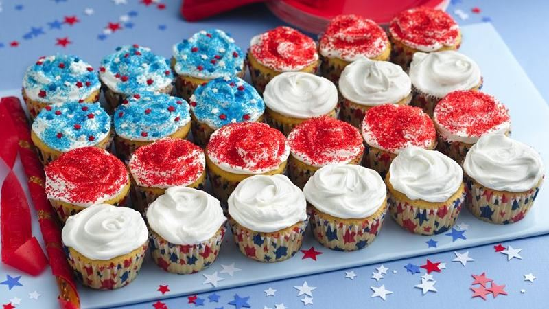 ricetta 4 luglio cupcake bandiera