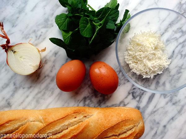 ingredienti frittata alla menta