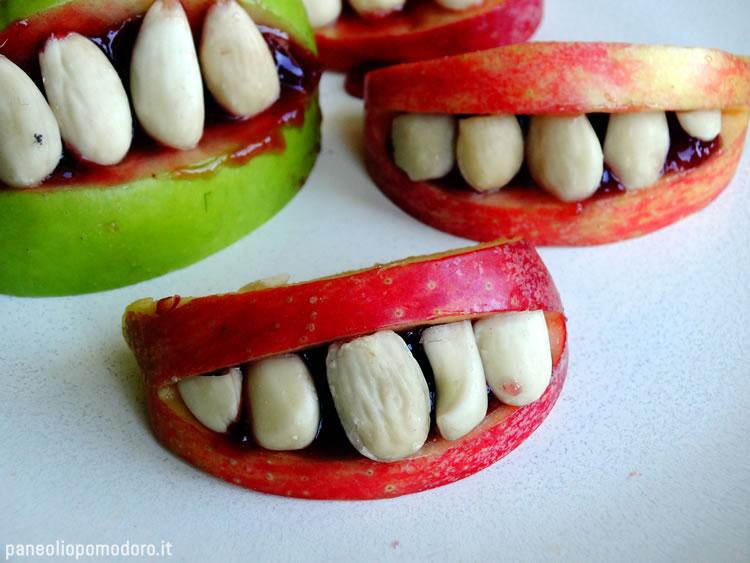 ricetta dentiere di mele di halloween