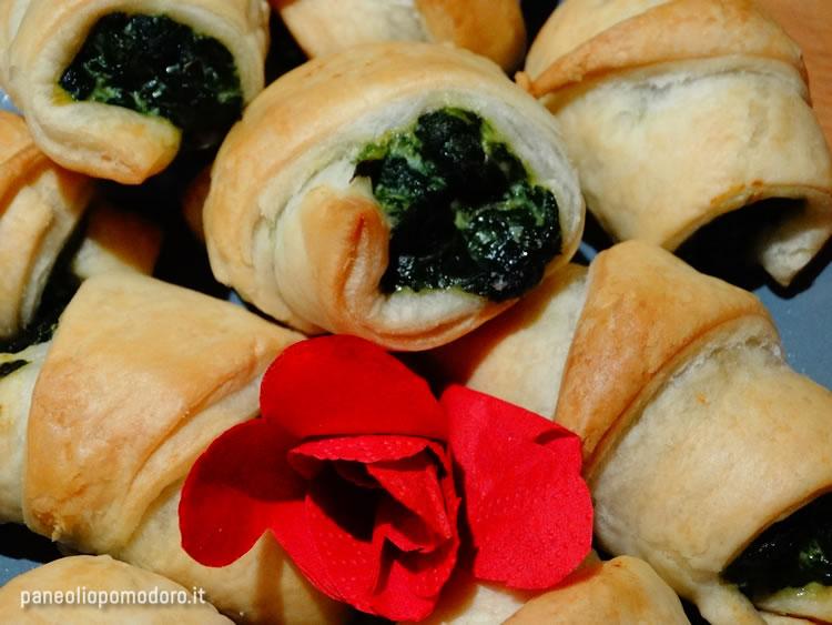ricetta mini brioche con spinaci