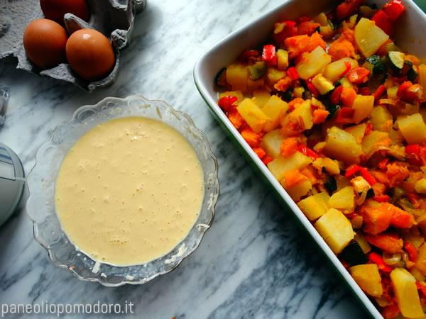 crema di uova sbattute e panna vegetale