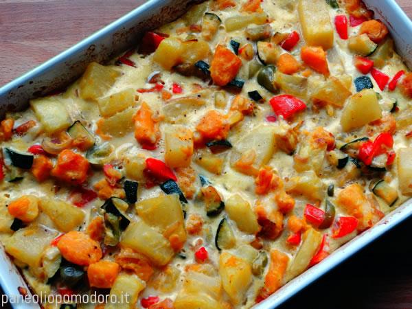 sfornare la tortilla di verdure
