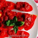 pomodoro fresco con salsa e basilico