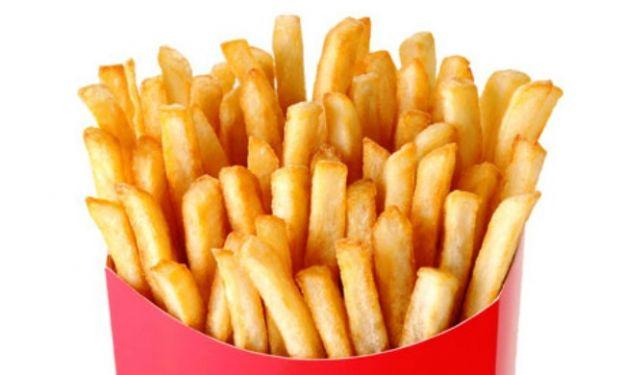 cibo sale patatine