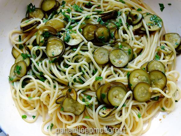 spahetti e zucchine