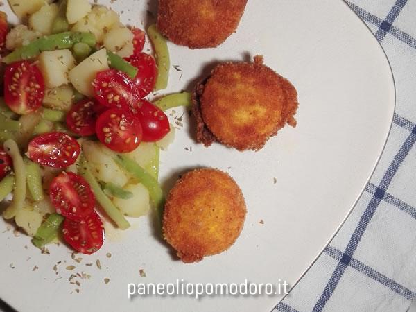 rosso d'uovo con nizzarda di verdure
