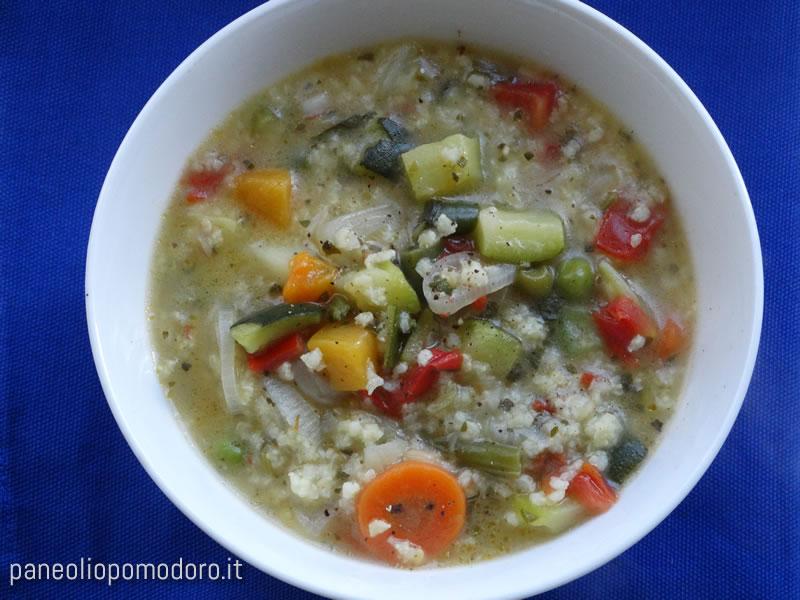 minestrone di verdure e miglio