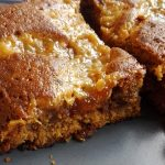 Blondies con caramello salato