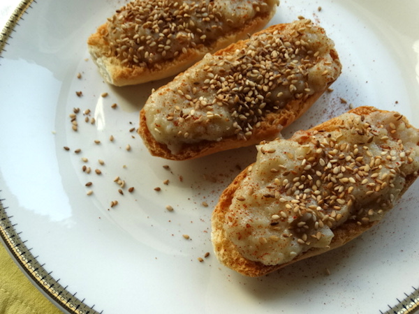 Crostini con topinambur