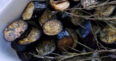 melanzane perline al forno al rosmarino