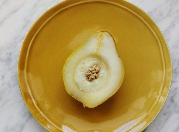 pere glassate con gorgonzola e noci