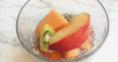 budino semi di chia frutta fresca