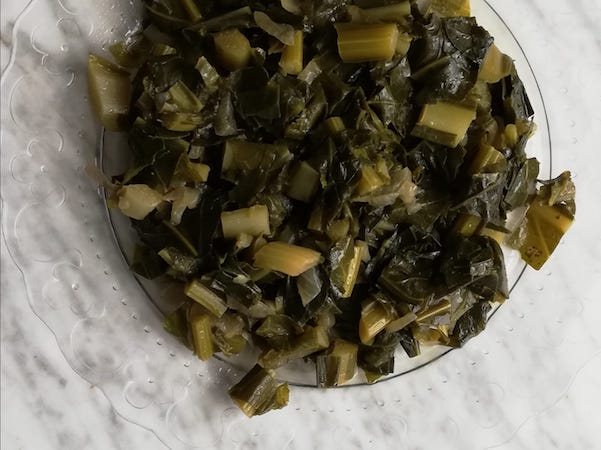 foglie broccolo di bassano in padella