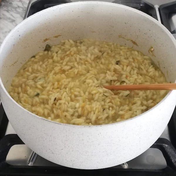 cottura riso fiori di tarassaco