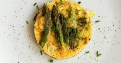 frittatina con punte di asparagi verdi