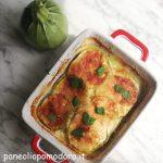 Parmigiana di zucchine bianca (con zucchine a crudo)