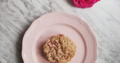 risotto con petali di rosa