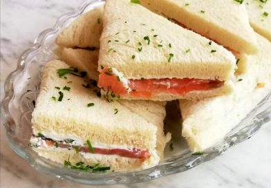 tramezzini al salmone e formaggio