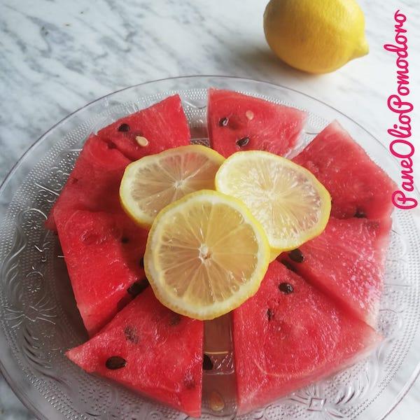 anguria e succo di limone