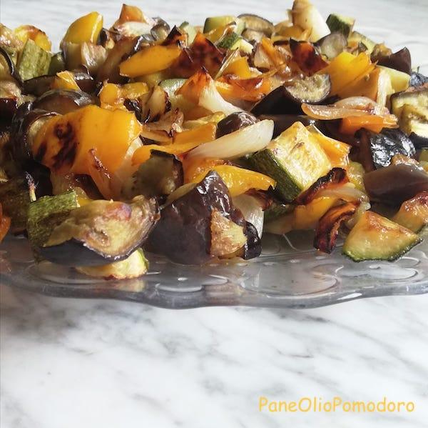 caponata di verdure al forno leggera