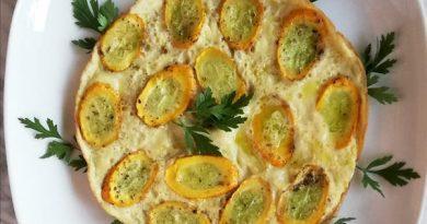 frittata di zucchine gialle