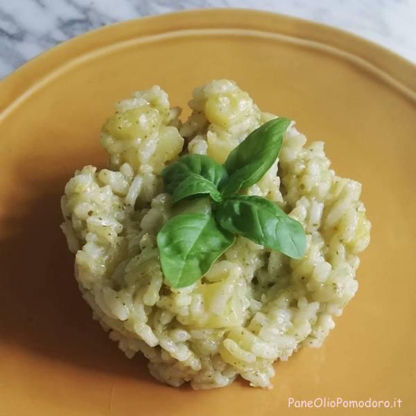 risotto pesto basilico patate