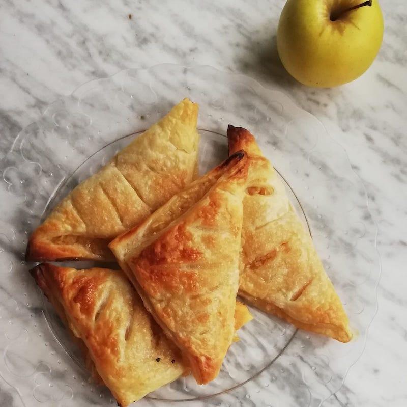 triangoli di sfoglia alle mele