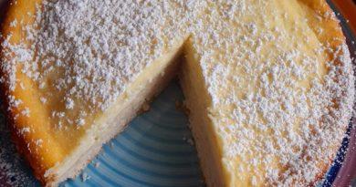 torta di ricotta semplice alla vaniglia